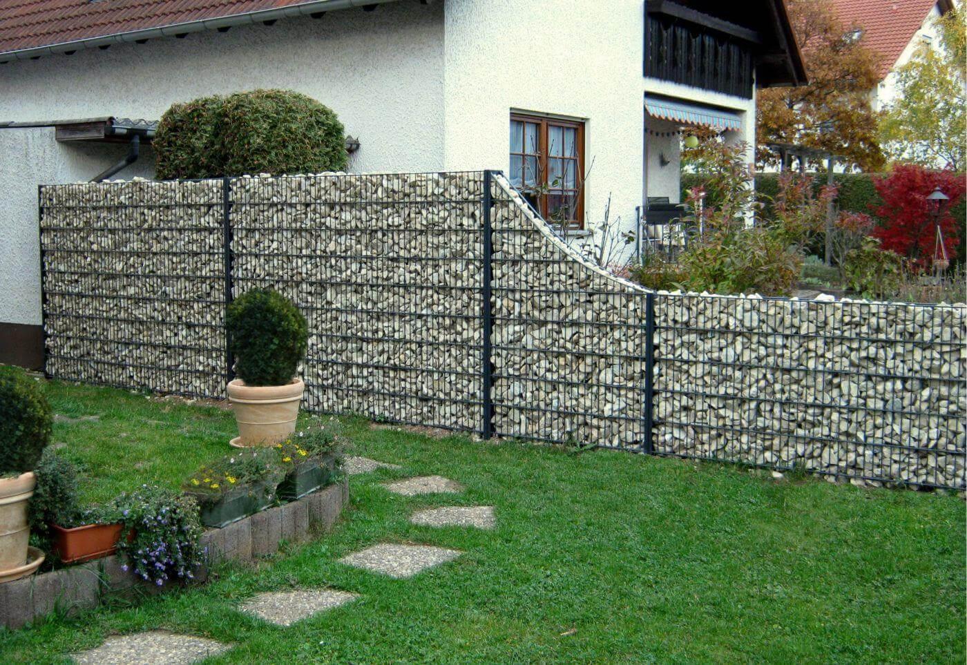 Gabionenzaune Steinkorbe Steinmauern Lieferung Und Montage